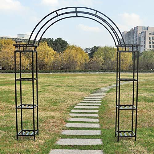 Outdoor garden arch, Decorative Metal Garden Arbor,Garden Arbor for Various Climbing Plant, Outdoor Garden Lawn Backyard