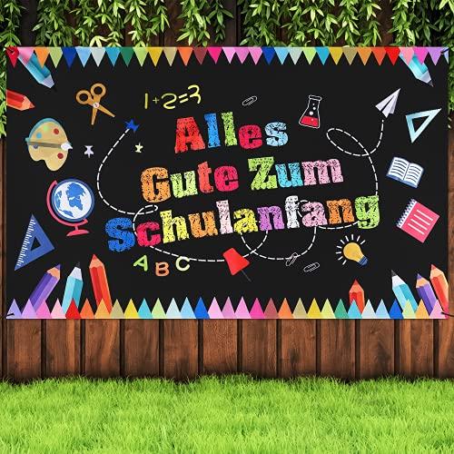 Einschulung Girlande Banner Deko, Alles Gute Zum Schulanfang Banner, Schulanfang Deko, Schulkind Girlande Banner Deko, Schuleinführung Banner Deko Set für Schulanfang, Schulanfang Deko für Kinder