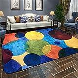 Designer-Teppich Nordic Modern Simplicity Abstrakt Persönlichkeit Geometrie Teppich Wohnzimmer Couchtisch Schlafsofa Nachttisch Teppich mit 5 Farben und 5 Größen ( Farbe : E , größe : 180*180CM )