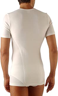 Relaxsan Ortopedica 1200D T-Shirt Maglia Termica Uomo Doppio Tessuto Lana Cotone con Fascia Lombare e vertebrale