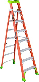 Louisville Ladder 8-Foot Fiberglass Step/Shelf Ladder, 300-Pound Capacity, Orange, FXS1508