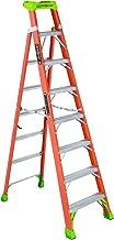 Louisville Ladder 8-Foot Fiberglass Step/Shelf Ladder, 300-Pound Capacity, Orange, FXS1508