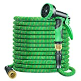 BOIROS Garden Hose Expandable 100FT Flexible Leakproof Hose Pipe with Durable Latex Core/Solid