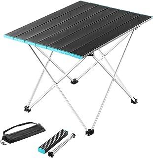میز کمپینگ تاشو E-Lead میز آلومینیومی فوق سبک با کیسه ذخیره سازی ، حمل آسان برای فضای باز ، اردوگاه ، پیک نیک ، کباب کردن ، پخت و پز ، جشنواره ، ساحل ، پیاده روی ، مسافرت ، ماهیگیری ، استفاده در منزل