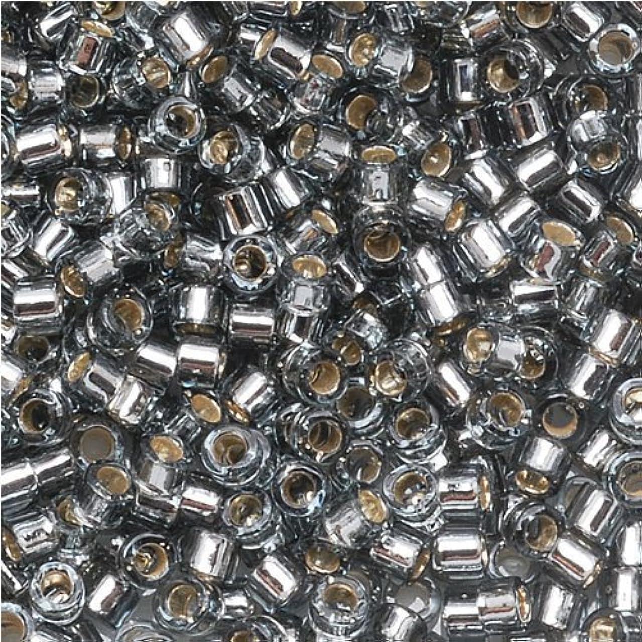 Miyuki Delica Seed Beads 11/0 Silver Lined Grey DB048 7.2 Grams
