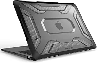 SupCase Funda Macbook Air 13 Modelo 2018, Carcasa Dura con Acabado Mate para Apple Macbook Air 13 Inch, Aplicable con Model A1932,se Puede apoyar [Retina Display] (Transparente/Negro)