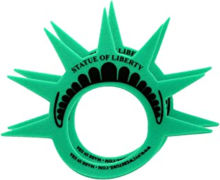 ((Pack of 2) Fun Statue of Liberty Crowns Hats Visors and Caps. (Made in USA) Liberty Costume Hats for New York City Theme Parties