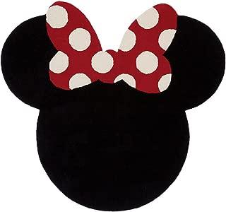 Ethan Allen | Disney I See Minnie Mouse Rug, 5' x 5', Mickey's Ears Black