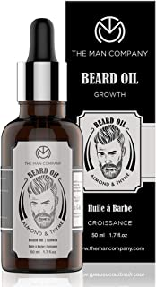 The Man Company Beard Oil for Growing Beard Faster with Almond & Thyme, 100% Natural, Best Beard Growth Oil for Men, Nouri...