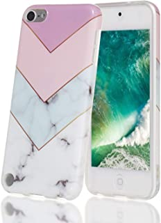 iPod Touch 7 Case,iPod Touch 6 Case,Shell Marble Design High Impact Silicone Anti-Scratch &Fingerprint Shock Proof Ultra Thin Non Slip Cover Protective Case for Apple iPod Touch 5/6/7th Generation