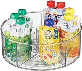 mDesign système de stockage - boite de rangement- organisateur de cuisine à 5 compartiments couleur : transparent