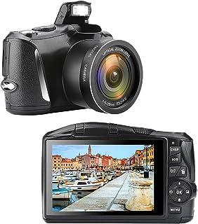 Digitalkamera Fotoapparat Digitalkamera 48MP 2,7K UHD 3,0 Zoll Digitalkamera mit Einziehbarer Blitzlicht Digitalkamera für die Fotografie Camera