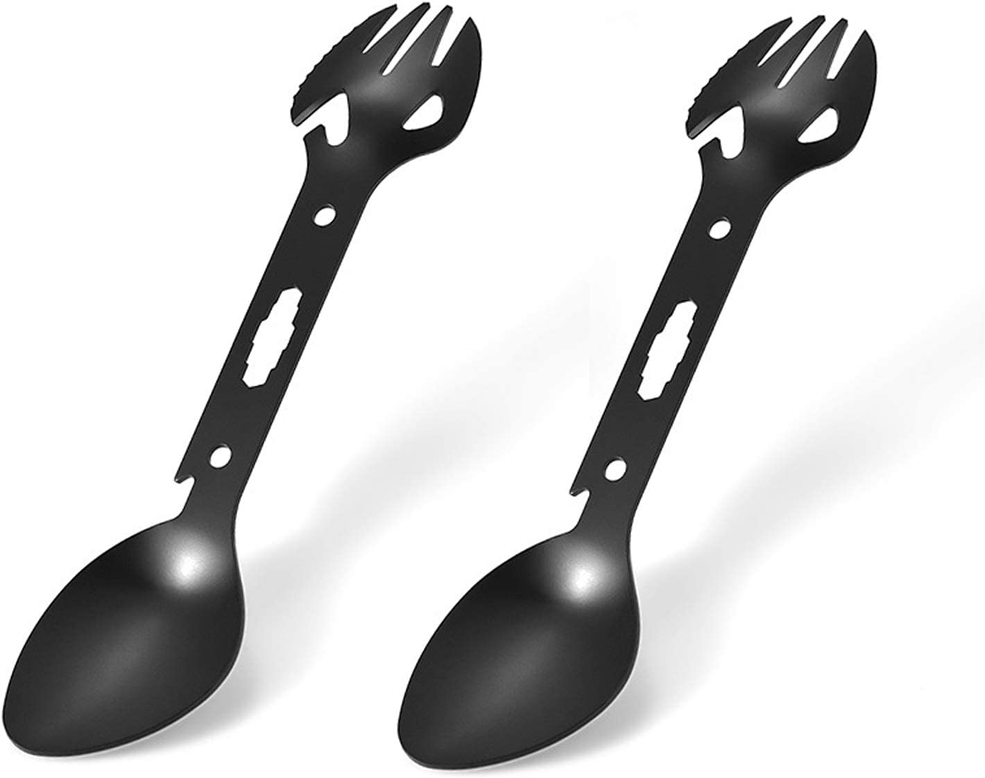 Details about  /Titanium Spork Bottle Opener Outdoors Camping Travel Picnic Hiking Use Accessory