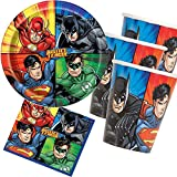 33-teiliges Party-Set * Justice League Superhelden * mit Teller + Becher + Servietten + Deko |...