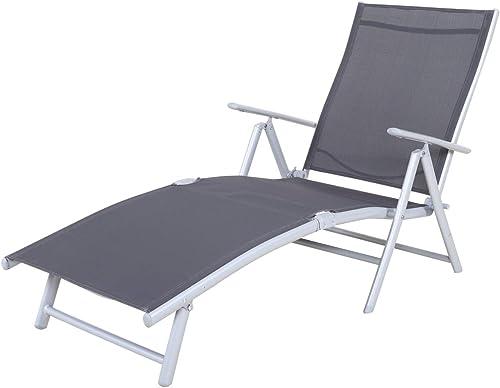 Chicreat Korfu - Chaise longue basique, 147x63,5x87cm