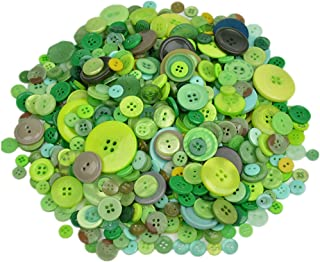 Around 600 Pieces Resin Buttons Sewing Decorative Buttons Beads Flatback for Crafts Embellishments Scrapbooking Painting Christmas Knitting Ornaments (Green)