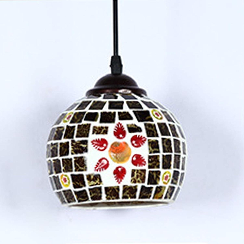Home Kronleuchter LLP Vintage Glas Pendelleuchte Dekoration Lampe Resident Lampe Wandleuchte für Restaurant Bar Cafe Loft Schlafzimmer (Farbe   schwarz)
