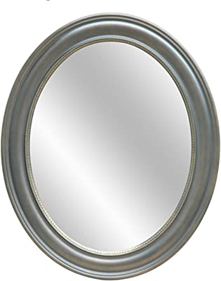 Amber Finished Oval Wall Mirror 34