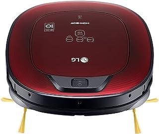 LG VR8602RR Hombot Turbo Serie 9 - Robot aspirador programable con doble c?mara, para casas con ni?os y alfombras, colo rojo