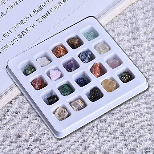 HCKZ Suave Cristales, 20 Piezas de Cristales de Piedra Mineral Irregular Arte...