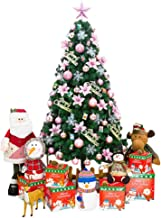 PVC Flame Retardant Christmas Decorations Christmas Tree with 10m LED String Light Easy Installation (Size : 1.8m-6ft)