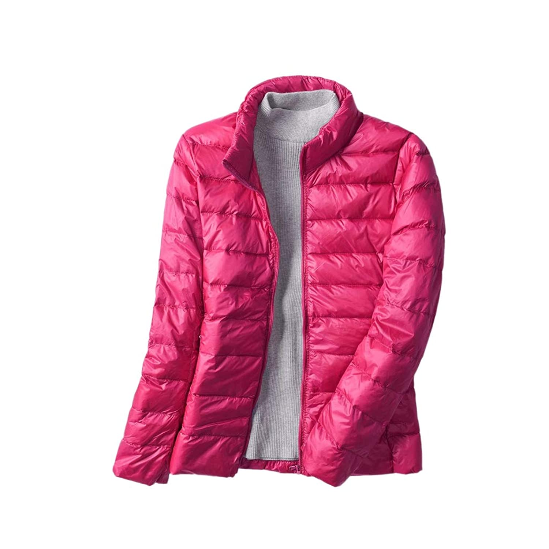 Proslen ダウンジャケット レディース ダウンコート 軽量 防風 防寒 秋 冬 ライトダウン 収納袋付き