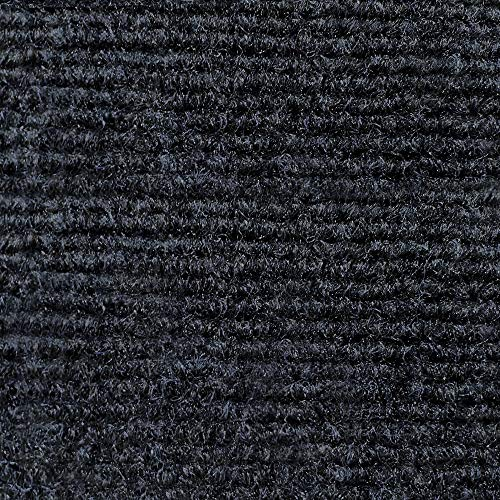 House, Home and More Indoor Outdoor Carpet with Rubber Marine Backing - Nautical Blue - 6 Feet x 10 Feet