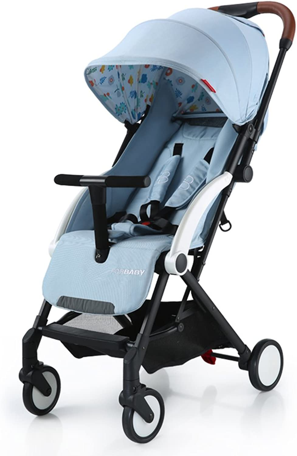 HAIZHEN Intellectual Toy Baby Push Ultralight Can Sit Lie Foldable Baby Carriage Adjust Sunshade Awning AntiUV Sun Predection EVA Foam Shock Absorber Tire Trolley 60  41  103cm Boy and Girl Gifts