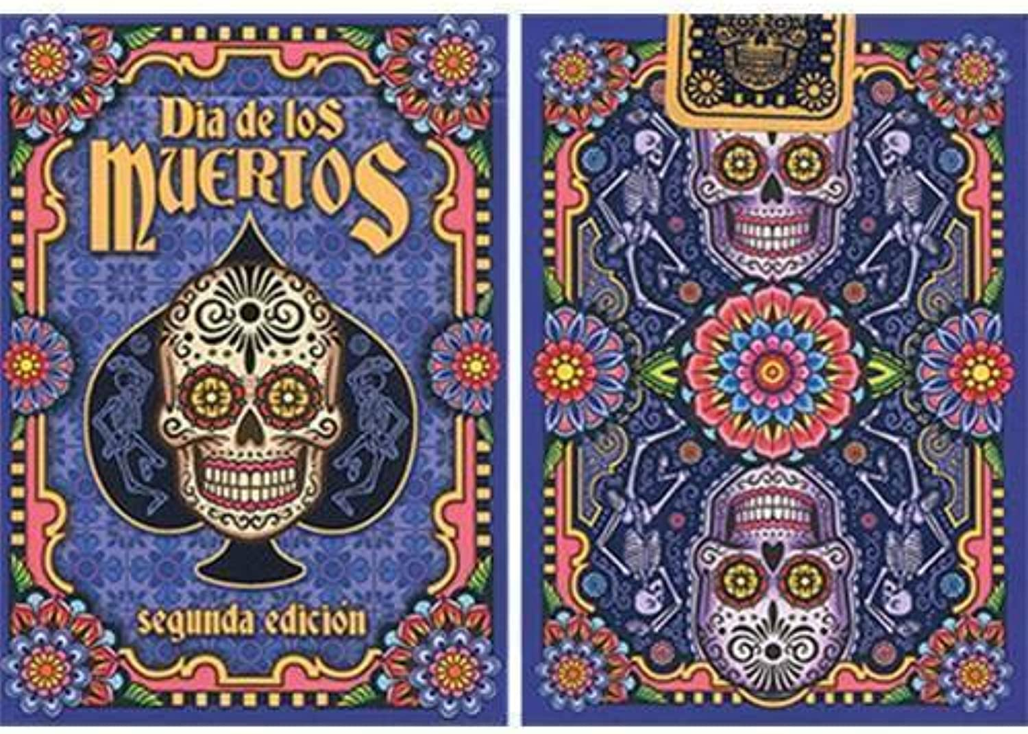 SOLOMAGIA Dia de los Muertos Painted Playing Card (2nd Edition)  Card Games  Magic Tricks and Magic