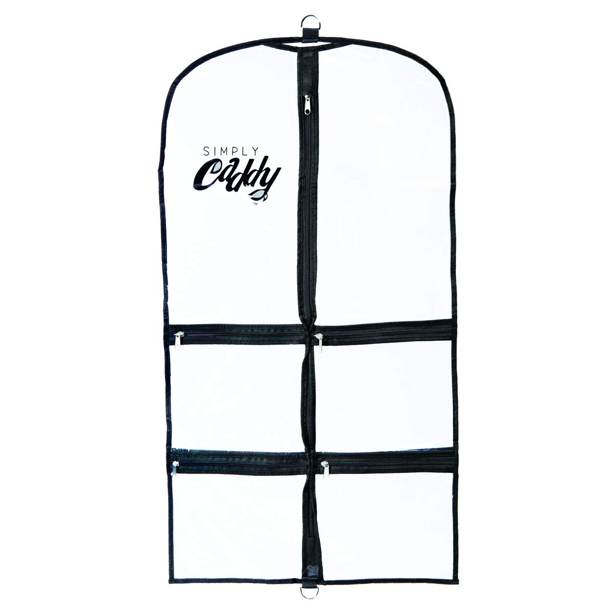 Simply Caddy Costume Garment Bag with Pockets, Black Trim