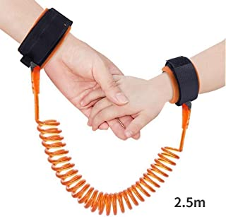 YOMYM Child Safety Harness 2.5m Anti-Theft Belt for Child, Baby Anti-lost Safety Harness Belt, Child Anti-lost Wrist Strap for Walking, Shopping etc (orange)