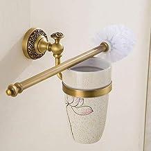 Makkelijk te gebruiken Retail Wand Mounted Toilet Reinigingsborstel Antiek Messing Toilet Brus