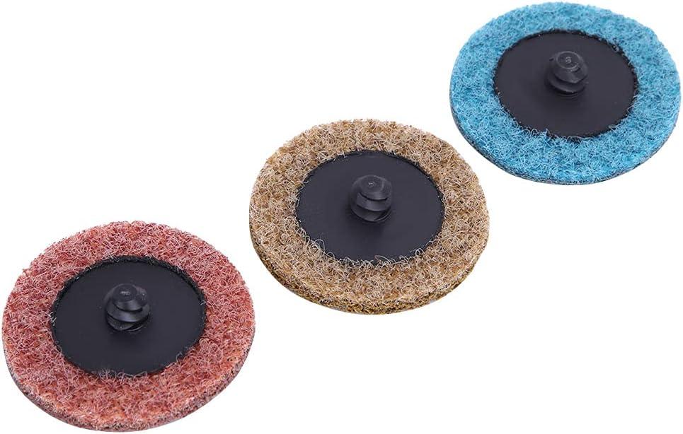 Disco en espiral de 3 colores, kit de disco de lijado de 36 piezas, pulido para pulido de superficies de soldadura de metal con varilla de extensión con disco de esmerilado