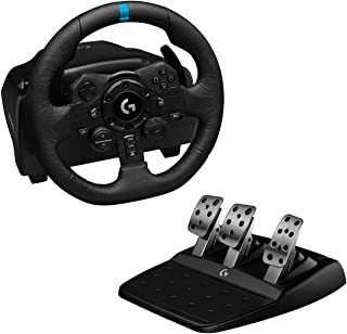 Logitech G923 Racing Wheel and Pedals for Playstation 4 and PC featuring TRUEFORCE up to 1000 Hz Force Feedback, Responsiv...