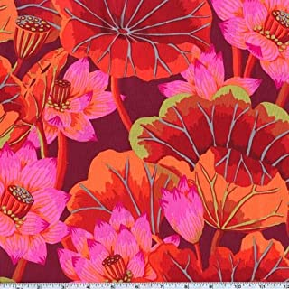 FreeSpirit Fabrics Kaffe Fassett Lake Blossoms, Yard, Red