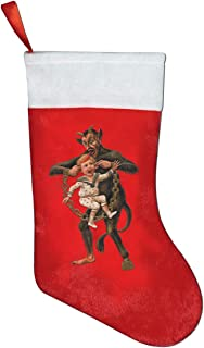 Vintage Retro Krampus Kids Christmas Stockings Ornament Themed 18 20 Inch Rustic Family Farmhouse Dollhouse Griswold Office Decorations Xmas Socks Classic