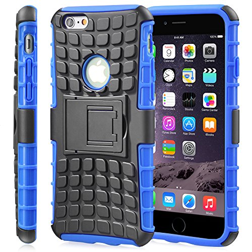 Fosmon [Rugged] Apple iPhone 6 Plus/iPhone 6s Plus (5.5') Case - HYBO-Ragged Heavy Duty Hybrid Protective Cover with Kickstand (Blue)
