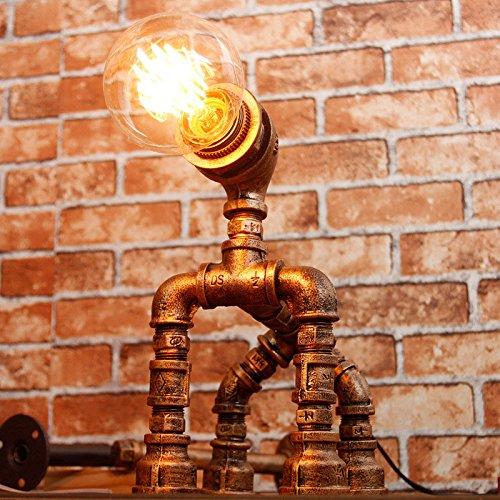 Office tafellamp American Retro tafellamp, ijzeren lamp lichaam koffie winkel bar tafellamp, robotvormige woonkamer verlichting bureaulampen