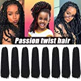 8 Packs Passion Twist Hair 22 Inch Water Wave Crochet...