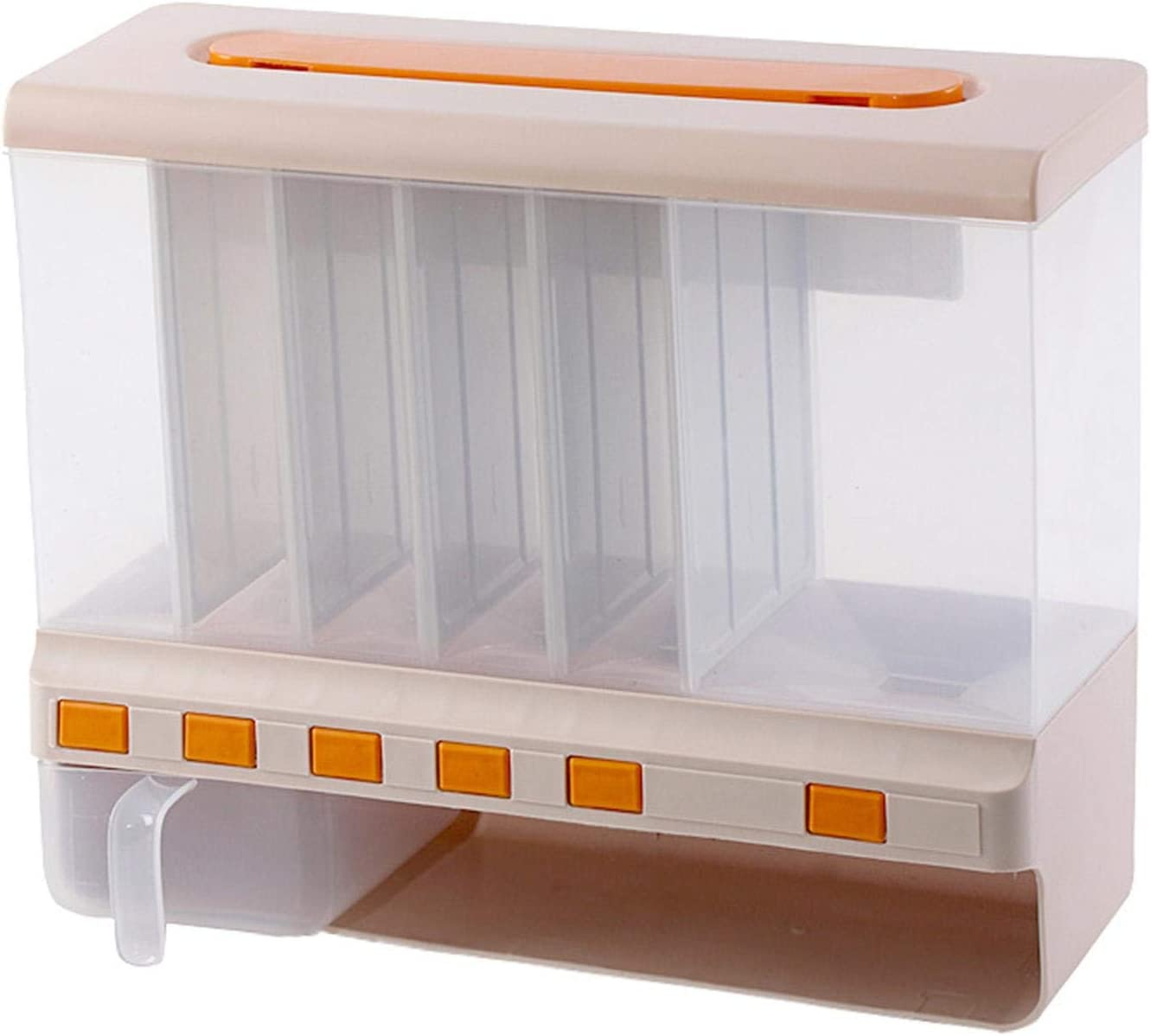 Xiaoyaoyou Dry Food Dispenser Baltimore Mall Cereal Stor Dispensers 6-Grid 2021 spring and summer new