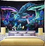 KHKJ Tapiz de Seta psicodélico cabecero de Pared Arte Colcha Dormitorio Tapiz para Sala de Estar Dormitorio decoración del hogar A6 150x130cm