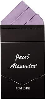 Jacob Alexander Men's Pre-Folded Triangles Pocket Square Handkerchief