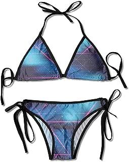 Triangle Bikini Swimsuits,Virtual Reality Sci Fi Sexy Bikini 2 Pieces
