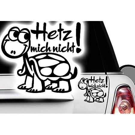 Folistick Hetz Mich Nicht Turtle Aufkleber Schildkröte Autoaufkleber 24x16 Cm Ausführung Rechts Schwarz Auto