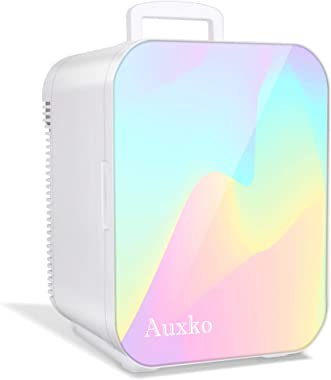 AUXKO Mini Beauty Fridge 15 Liter Portable Personal Makeup Refrigerator, Compact Cooler and Warmer for skincare, Cosmetic, Br