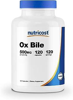 Sponsored Ad - Nutricost Ox Bile Capsules 500mg Per Serving (120 Capsules) - Gluten Free & Non-GMO
