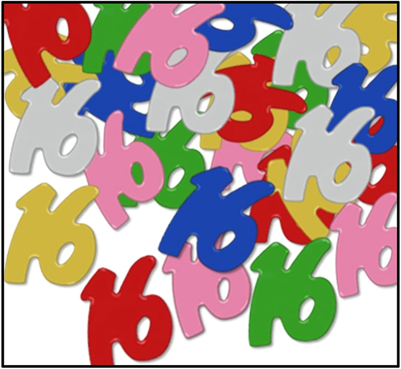 FanciFetti 16 Silhouettes (multicolor) Party Accessory (1 count) (0.5 Oz Pkg) Pkg 12