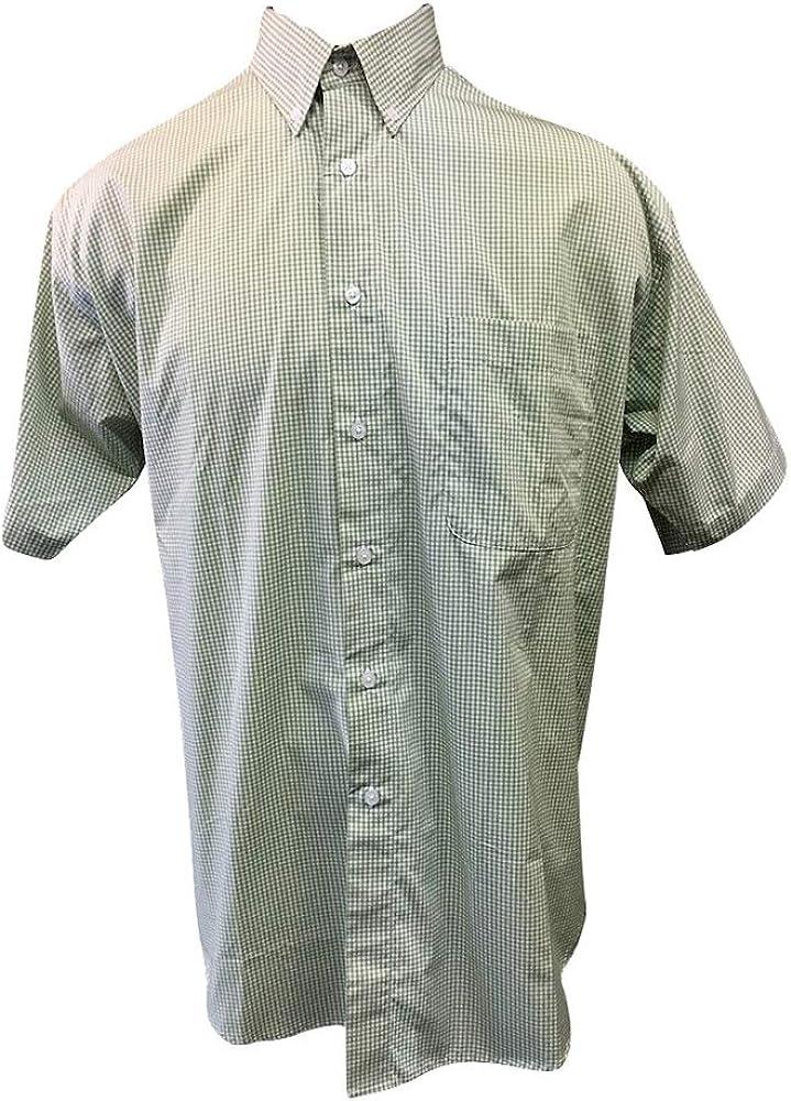 Copper Cove 1XB Short Sleeve Green Gingham Casual Shirt Big 1X
