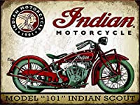 Indian Motorcycle 注意看板メタル安全標識注意マー表示パネル金属板のブリキ看板情報サイントイレ公共場所駐車ペット誕生日新年クリスマスパーティーギフト