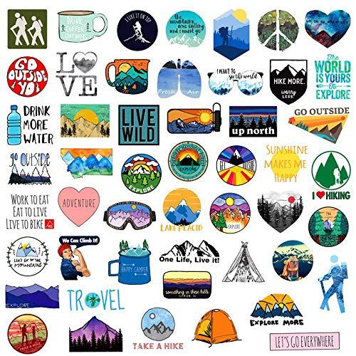 Pegatinas de aventura al aire libre, para coche, moto, móvil, portátil, equipaje, juguete, 50 unidades